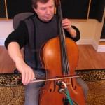 BalcaniaOrchestra-Bashkim-recording-the-cello-part-in-Last-Tear