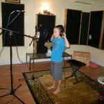 Sashi recording Star in a Jar